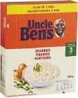 Uncle Ben's Snabbris 3min 350 g