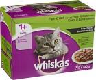 Whiskas 1+ Fisk/Kött i Sås 12-pack