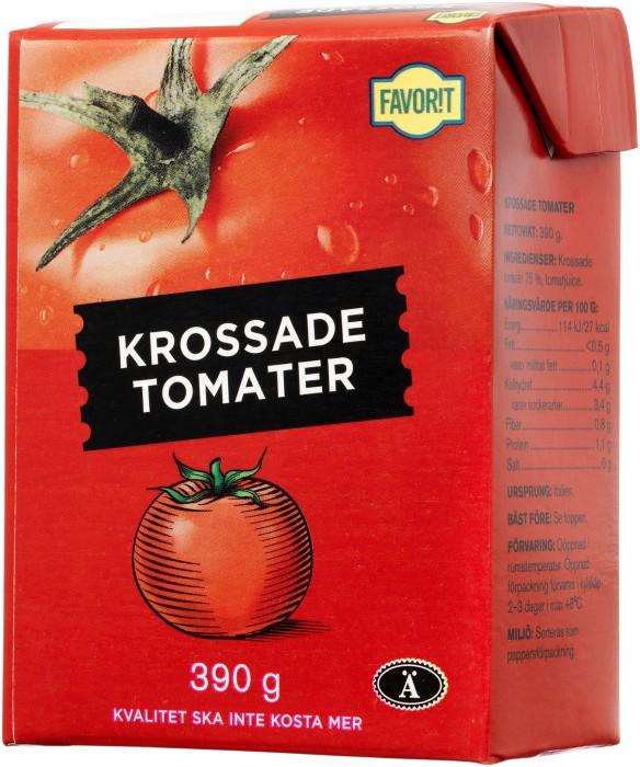 krossade tomater kcal