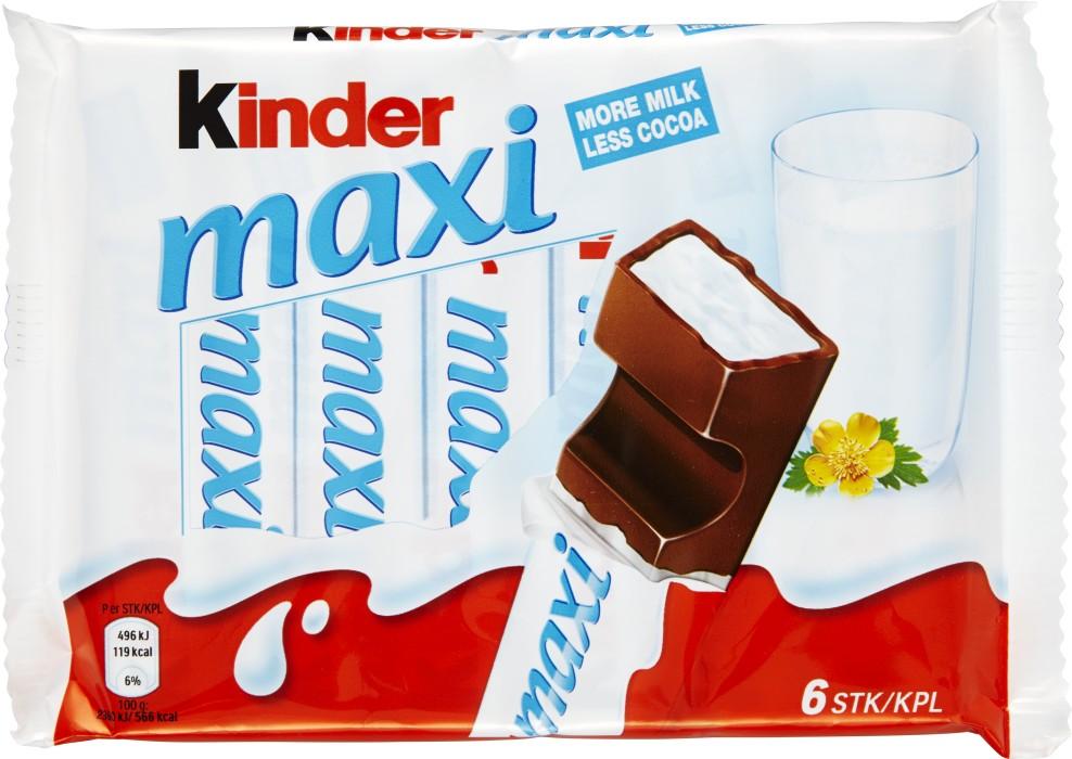 kinder maxi kcal