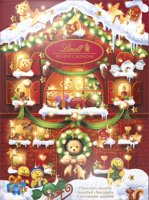 k p lindt adventskalender teddy 172 g p. Black Bedroom Furniture Sets. Home Design Ideas