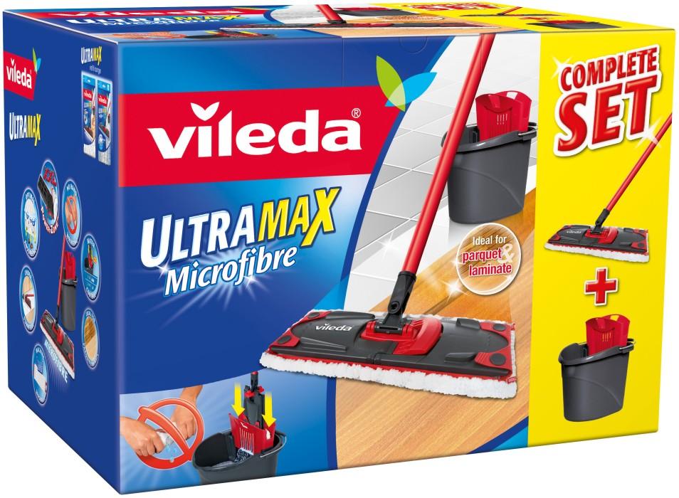 Mikrofibermopp | Enkel att använda | VILEDA UltraMax | Jula